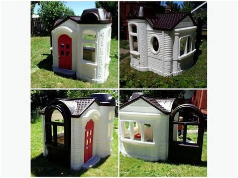 tikes playhouse with brown roof tikes mansion playhouse style central