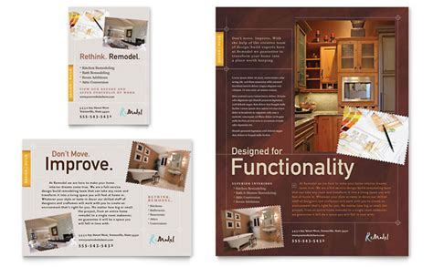 home remodeling flyer ad template design