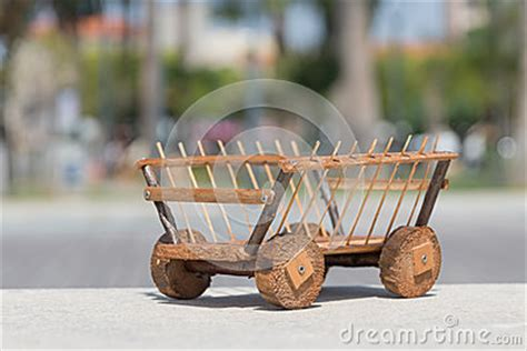 Handmade Wooden Things - cart wood stock photo image 53245025