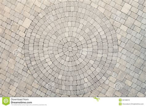 How To Level Concrete Patio Center View Of Patio Circle Design Overhead View Stock