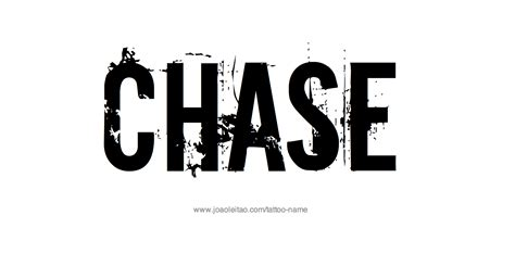 chase tattoo name designs