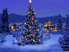 free christmas desktop wallpapers christmas tree lights
