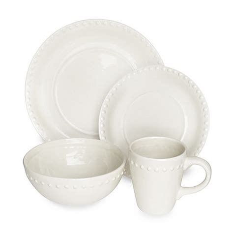 white beaded plates american atelier beaded dinnerware set white