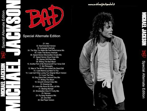 Bad Cover California 7 world of bootlegs bootleg michael jackson bad special alternate edition cd covers