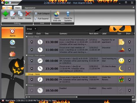 hot alarm clock clock software   pc