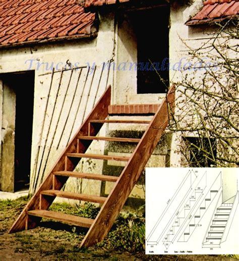 como hacer una escalera de canas c 243 mo hacer una escalera exterior de madera