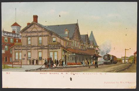 kingston ny west shore rr railroad depot postcard