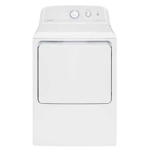 hotpoint 6 2 cu ft aluminized alloy gas dryer in white