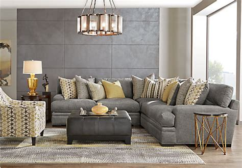 Sofia Vergara Dining Room Set by Cindy Crawford Home Palm Springs Gray 3 Pc Sectional