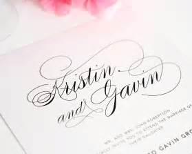 wedding invitations script font script elegance wedding invitations wedding invitations