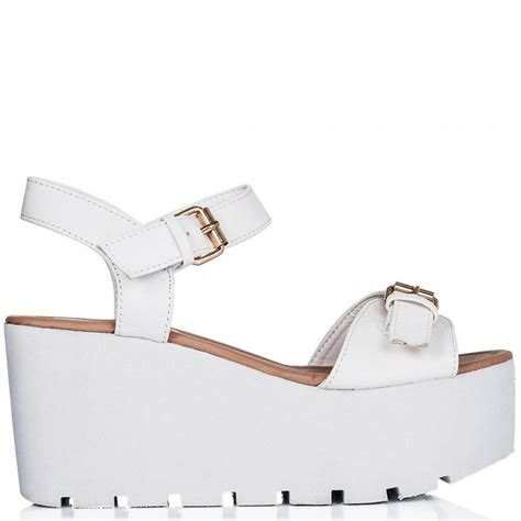 Sandal White buy golden heeled flatform platform sandal shoes white leather style