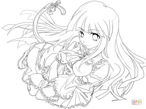 nice stunning coloring pages online cute anime coloring frederica bernkastel from higurashi when they cry anime