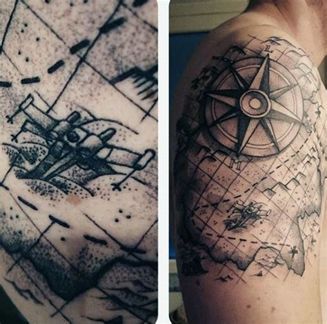 vintage world map tattoo www pixshark com images