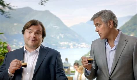 nespresso commercial actress jack black george clooney and jack black in fun ads for nespresso in