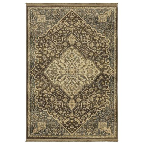 brown accent rug shop allen roth brown indoor inspirational area rug
