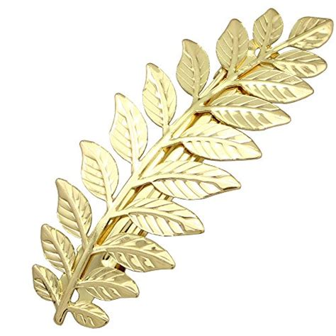 Sale Hair Pin Kepala Polos q q fashion festival bridal gold leaf branch updo hair pin clip dress snap barrette
