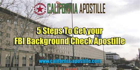 Fbi Background Check California 5 Steps To Get Your Fbi Background Check Apostille For Use In Korea California Apostille