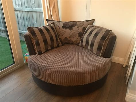 dfs brown fabric cuddle chair   milton hampshire gumtree