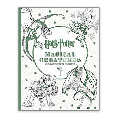 harry potter coloring book by scholastic scholastic harry potter magical creatures coloring book