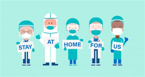 team  doctors  hand placard text stay  home