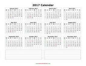 Pdf Calendar Template by 2017 Calendar Pdf Weekly Calendar Template
