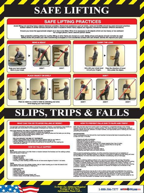 Printable Safe Lifting Poster | safe lifting poster