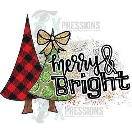 htv merry  bright buffalo plaid  green tree christmas tree clipart christmas clipart
