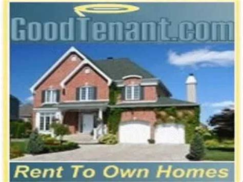 how to rent a house with bad credit goodtenant com rent to own homes no down payment bad credit is ok youtube