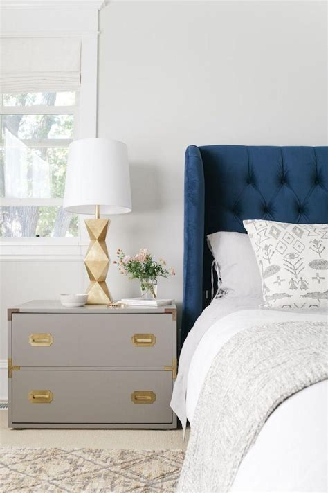 navy and gray bedroom the pair navy gold grey nightstands gold