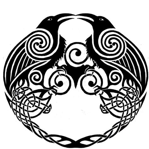 celtic crow tattoo ringerike norse design by twistedstrokes