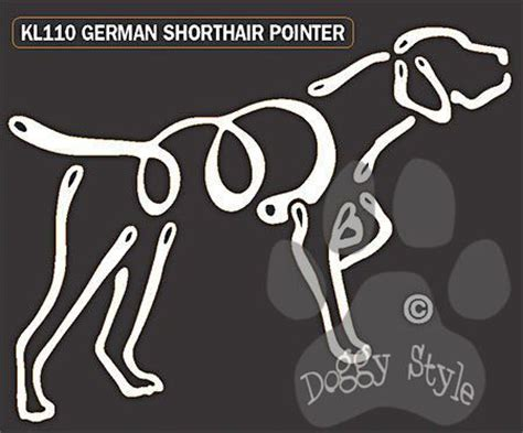 gsp tattoo german shorthaired pointer k lines window decal