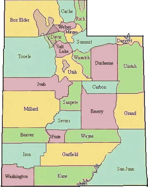 utah counties map dove map of utah county