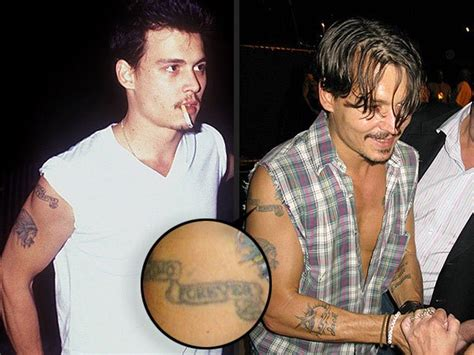 johnny depp winona ryder tattoo melanie griffith and more who