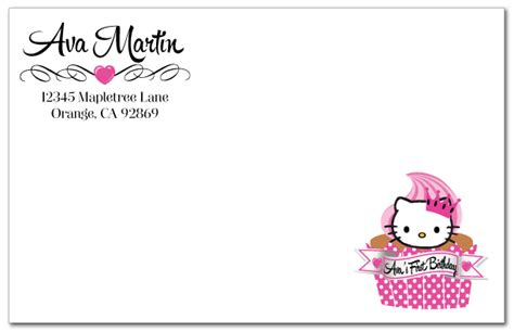 hello kitty birthday invitation card template