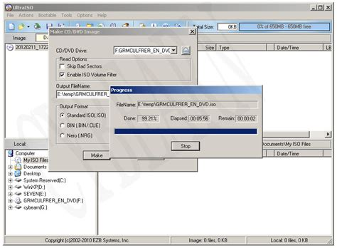 membuat file iso ultraiso cybearn membuat file iso windows seven menggunakan