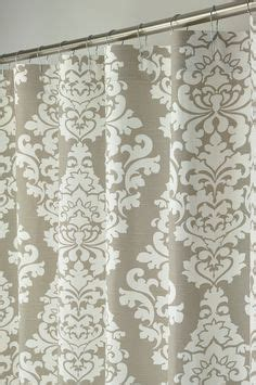 taupe damask curtains 1000 ideas about long shower curtains on pinterest