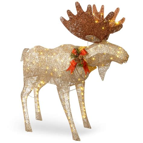 moose 60 inch lighted outdoor display national tree company 48 in moose decoration with white led lights df 120003 the home depot