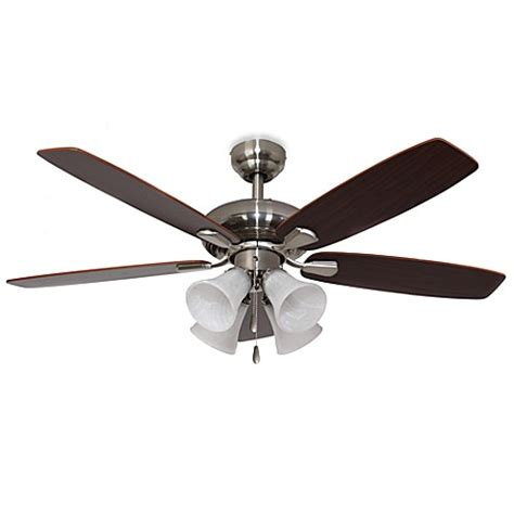 42 Inch Ceiling Fans With Lights Buy 42 Inch Dorset 4 Light Brushed Nickel Ceiling Fan From Bed Bath Beyond