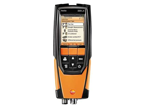 a testo testo 320 combustion analyzer combustion flue gas