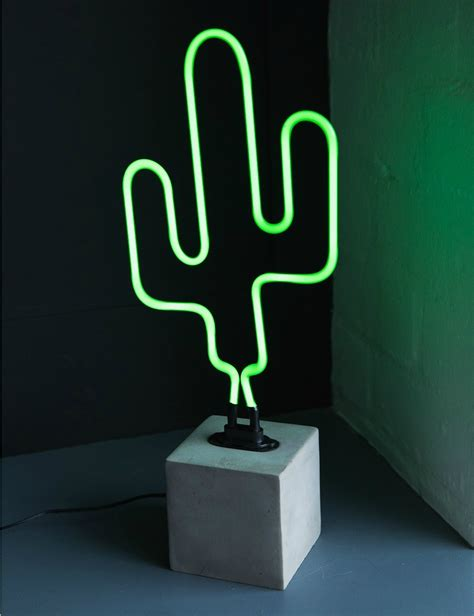 Neon Cactus Light by Neon Cactus Light At Grey
