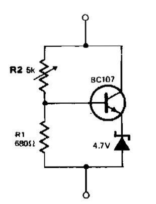 variable zener diode circuit variable zener diode power supply circuits