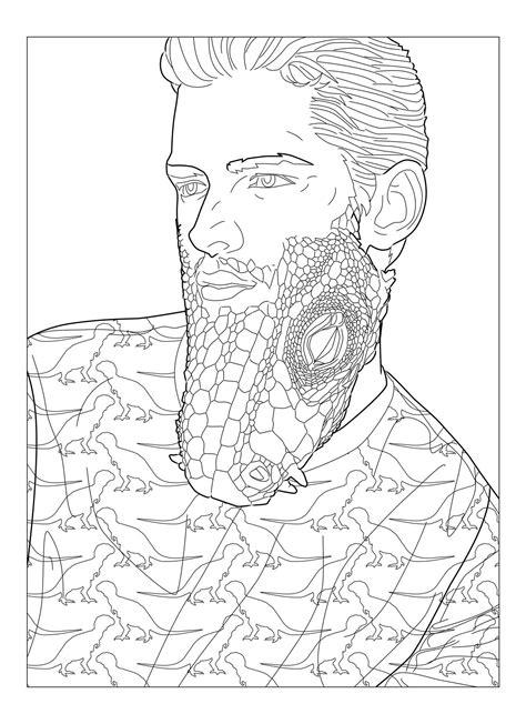 beard coloring beard coloring all about beards beards rock coloring book