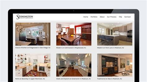interior design portfolio websites interior design website design for stonington cabinetry