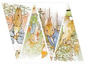 instant download of peter rabbit banner twelve by boxesbybrkr