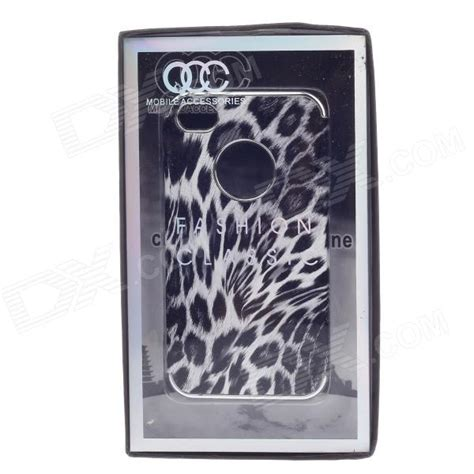 Animal Black For Iphone 4 4s animal texture style protective plastic back for