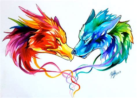 fire and ice tattoo and by lucky978 on deviantart design