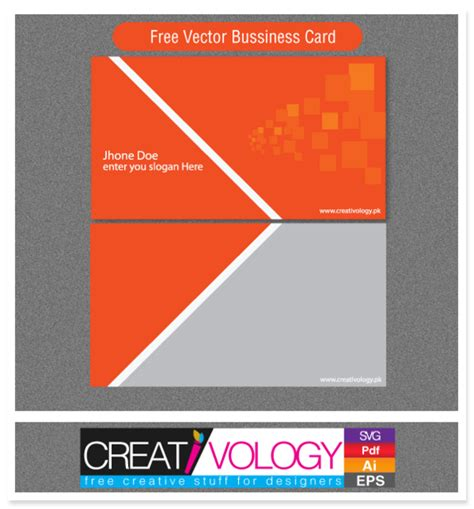 abstract front back business card template vector free