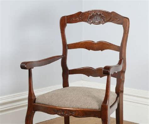 provincial ladder back chairs set of 8 eight louis provincial oak ladder back