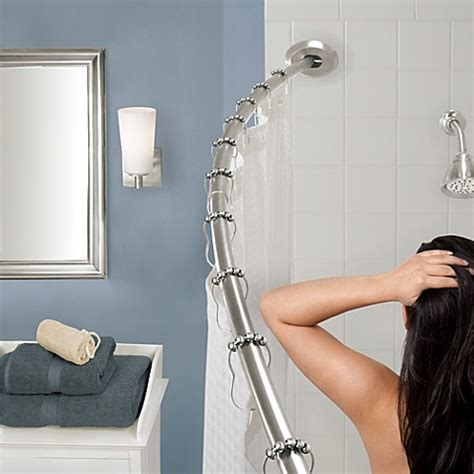 The Gripper Easy Install Adjustable Curved Shower Rod In Bathroom Shower Rods Curved Shower