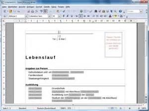Bewerbungbchreiben Muster Openoffice So Schreibt Mit Openoffice Einen Lebenslauf Giga